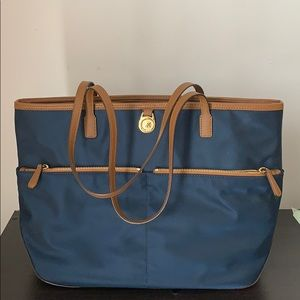 Blue/ Yellow/ Brown Micheal Kors Tote